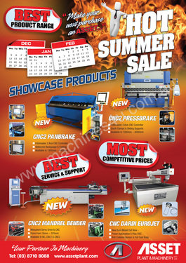 Asset Plant Machinery Pty Ltd ASSET PLANT 2012 RED HOT SUMMER SALE