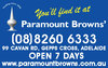 Paramount Browns Pty Ltd