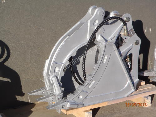 HYDRAULIC GRAPPLE BUCKET - Impact Construction Equipment Excavator Grab