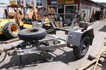 3ton cable drum trailer , galvenised