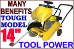 Concrete cutting Saw 14'' TOOL POWER wet & dry +++