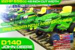 D140 Ride-on Mower 48IN Cut width - Pre order now