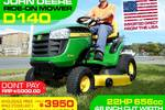 D140 Ride-on Mower  / Tractor - Just arrived!!