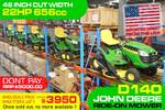 D140 Ride-on Mower 48 INCH Cut width Tractor 22HP