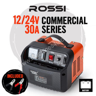 Rossi Car Battery Charger 12V / 24V 30A ATV