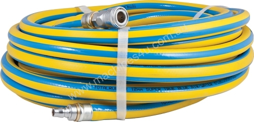 15M X 12MM HEAVY DUTY AIR HOSE WITH NITTO FITTINGS