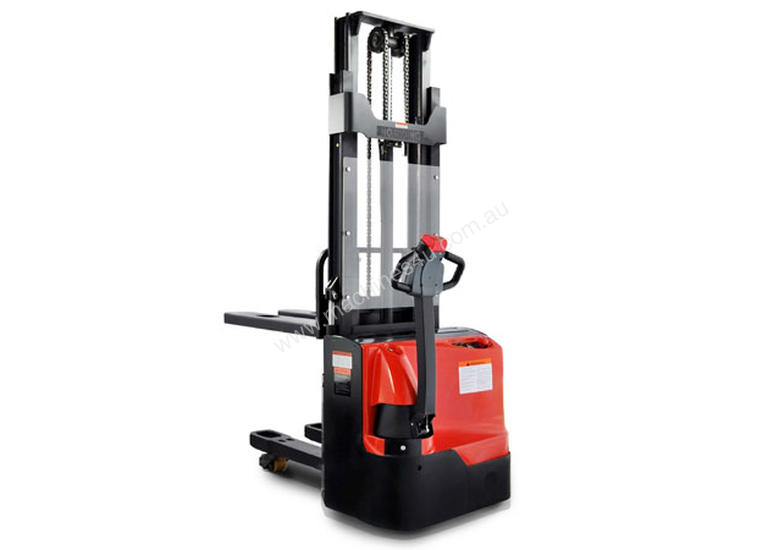 2 Ton Walk Behind Pallet Stacker Electric Forklift Price 1: New Hangcha Electric Stacker With Double Pallet 800kg