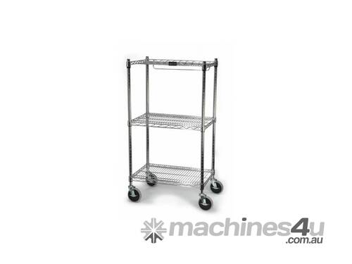 RUBBERMAID SAFETY STORAGE CART - CHROME