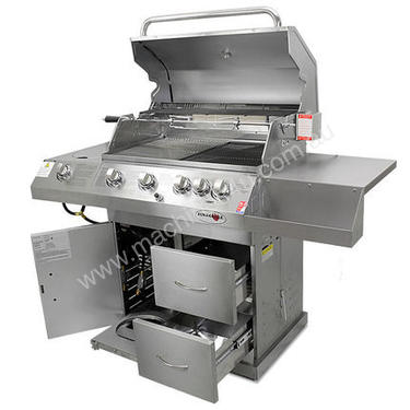 Outdoor Grill BBQ - 6 Burners Stainless Steel