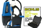 Magnetic drill + Free 6-pce cutter Set = LIMITED