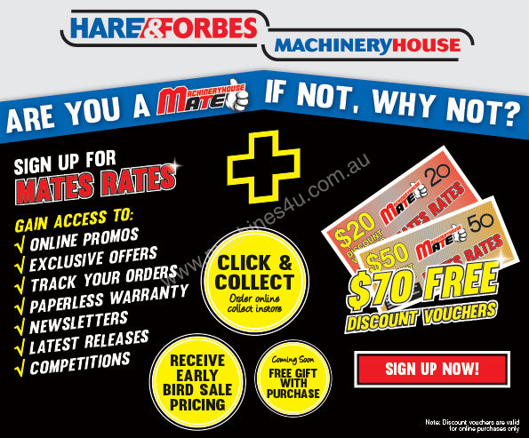 Machineryhouse Mates Receive 70 FREE Discount Vouchers MORE – Free Discount Vouchers