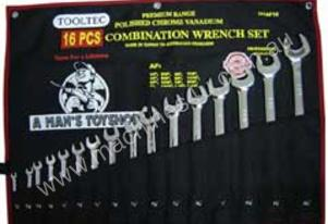 TOOLTEC 16 Piece Combination Wrench Set AF