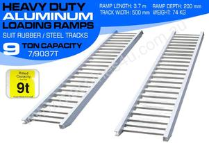 Ramps - 9.0 Ton Aluminium Loading Ramps 500mm WIDE