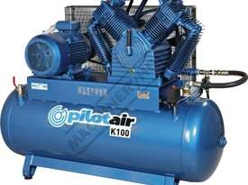 K100 Industrial Air Compressor 500 Litre / 20hp 81.6cfm / 2311.4lpm Displacement - picture0' - Click to enlarge