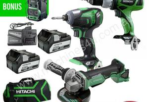 HITACHI KC18DDBL18V 5.0AH LI-ION CORDLESS 3PC COMB