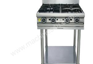 4 Open Burner Oven Top with Stand