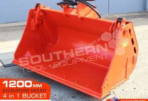 4 in 1 Bucket 1200mm suit 5 Ton Excavators ATTBUCK