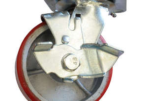 43039A - PU MOULDED CAST IRON WHEEL CASTOR(SWIVEL/BRAKE)