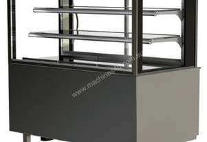 FPG 3C12-SQ-FS-SD-I Refrigerated Square Freestanding Display w/Sliding Glass Door & Integral Condens