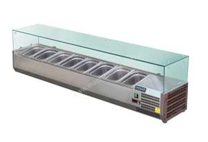 Polar Refrigerated Counter Top Prep/Servery 1800mm 8 x GN 1/3