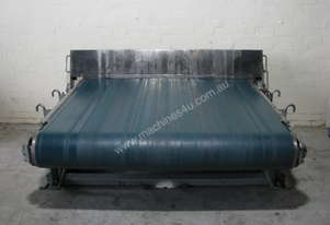 Large Heavy Duty Wide Motorised Conveyor - 1.7m wide 1.8m long
