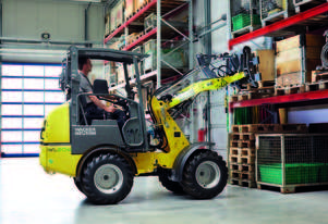 Zero emissions battery powered wheel loader - WL20e