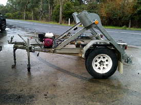 1 ton hydraulic self  loader cable drum trailer 2.5hp honda , 2010 model - picture0' - Click to enlarge
