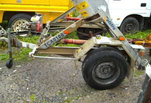 1 ton hydraulic self  loader cable drum trailer 2.5hp honda , 1 left in stock