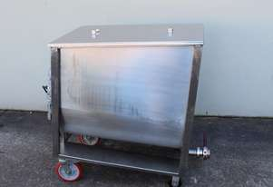Stainless Steel Mobile Mixing Vat