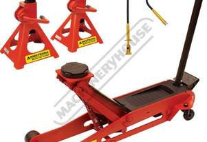 TJA-2SL Professional Hydraulic Steel Trolley Jack & Axle Stands Package Deal Jack - 2000kg (2 Tonne)