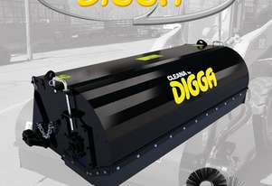 Digga Cleana 1700mm Bucket Broom Standard Flow 80% Poly 20% Wire Brush