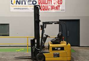 2x Used 1.8T CAT Electric 3-Wheel Forklifts EP18TCA