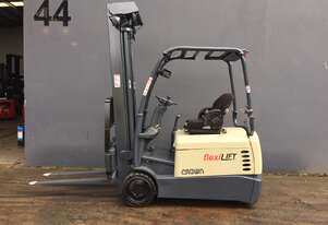 Crown SC4000 3-Wheeler Electric Counterbalance Forklift - Refurbished  and Repainted