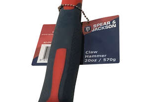 Spear & Jackson Claw Hammer Fibreglass Handle 20oz/570g SJ-CH20FG - New