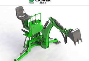 CLOVERAGRI TRACTOR BACKHOE INCLUDES 200MM 600MM BUCKET RIPPER & THUMB