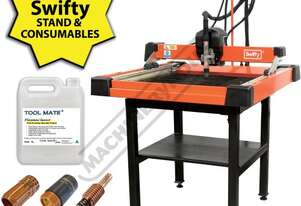 SWIFTY 600 XP Compact CNC Plasma Cutting Table Package Deal 610 x 610mm Table, Water Tray System, Hy