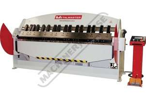 PB-830T Hydraulic NC Panbrake - Ezy Touch Screen Control 2500 x 4mm Mild Steel Bending Capacity