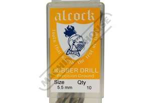 D8159 HSS Jobber Drill Pack - 10 Piece Ø5.5mm Precision Ground Flute & Split Point