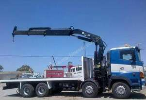 2008 HINO 700 SERIES FY Crane Truck,Table/Tray Top