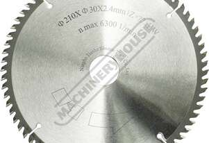 W883 Saw Blade - 210mm x 72T 72 Teeth Suits PL-75 Plunge Saw