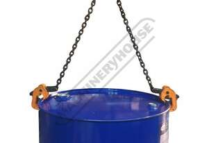 GDLC Vertical Chain & Clamp Drum Lifter 500mm Alloy Steel Chain Length - 6 x 18mm 1000kg Lift Capaci