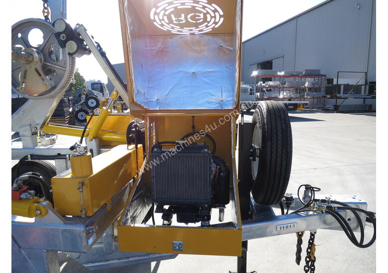 3.5 TONNE DUAL AXLE CABLE DRUM SELF LOADER