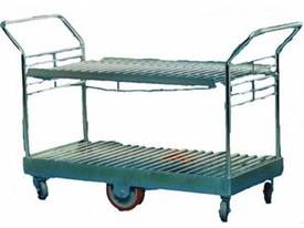 2 Tier Stock Trolley with Shelf