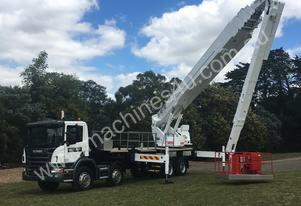 55m Bronto mounted on 2005 Scania twin steer