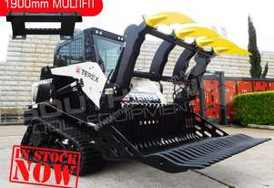 1900 mm Grapple Rock Bucket to suit Bobcat loaders
