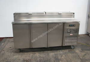 Commercial 3 Door Refrigerated Counter Fridge