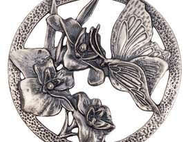 Pewter Lid - Butterfly - picture1' - Click to enlarge