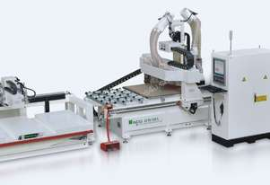 NANXING Pre labeling Auto Load  Drilling Nesting Grooves Cutting & unload CNC Machine NCG2512L