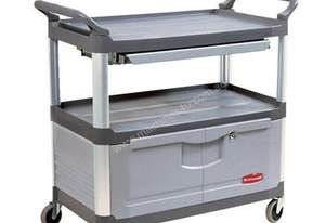 Rubbermaid 4094 Grey Xtra Instrument Cart with Swivel Castors