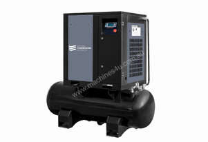 5.5kW - 27cfm Screw Compressor with tank (7hp)